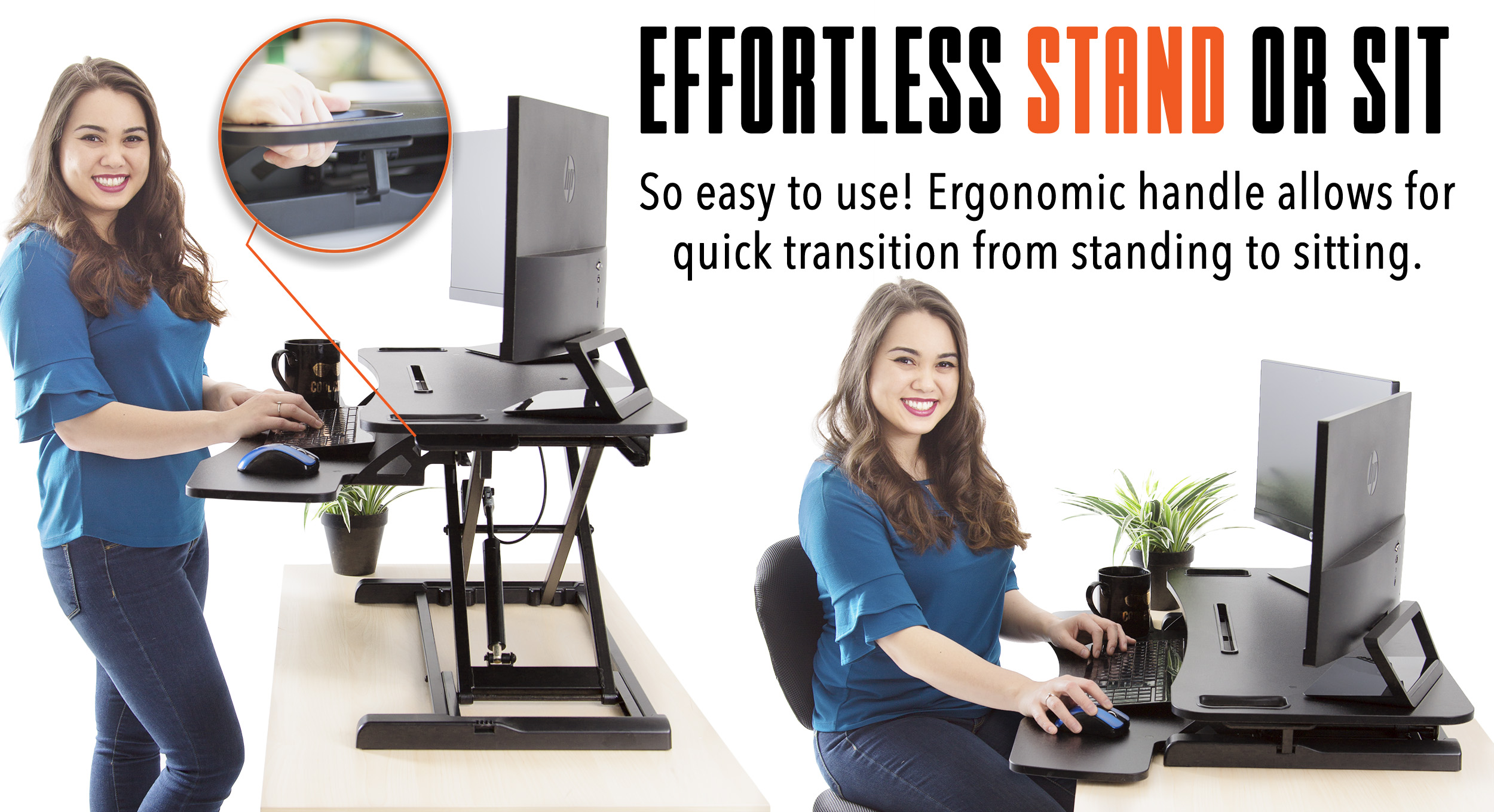 FlexPro Hero Sit Stand Desk Converter Stand or Sit