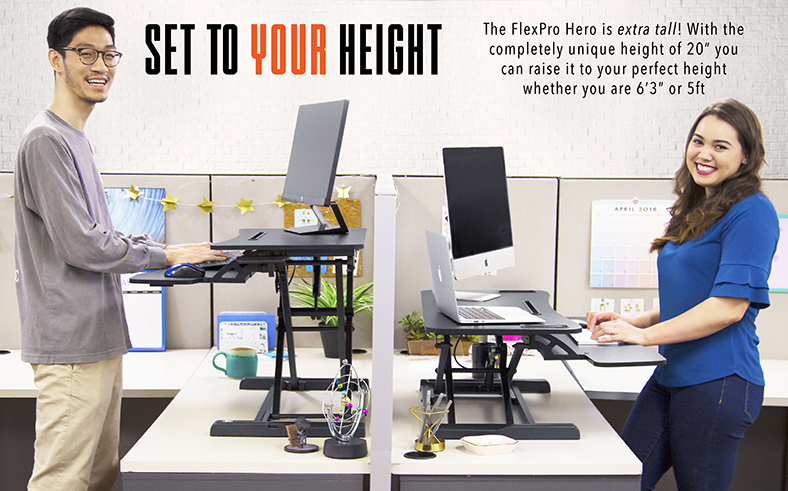 Hero Standing Desk Set to Your Height