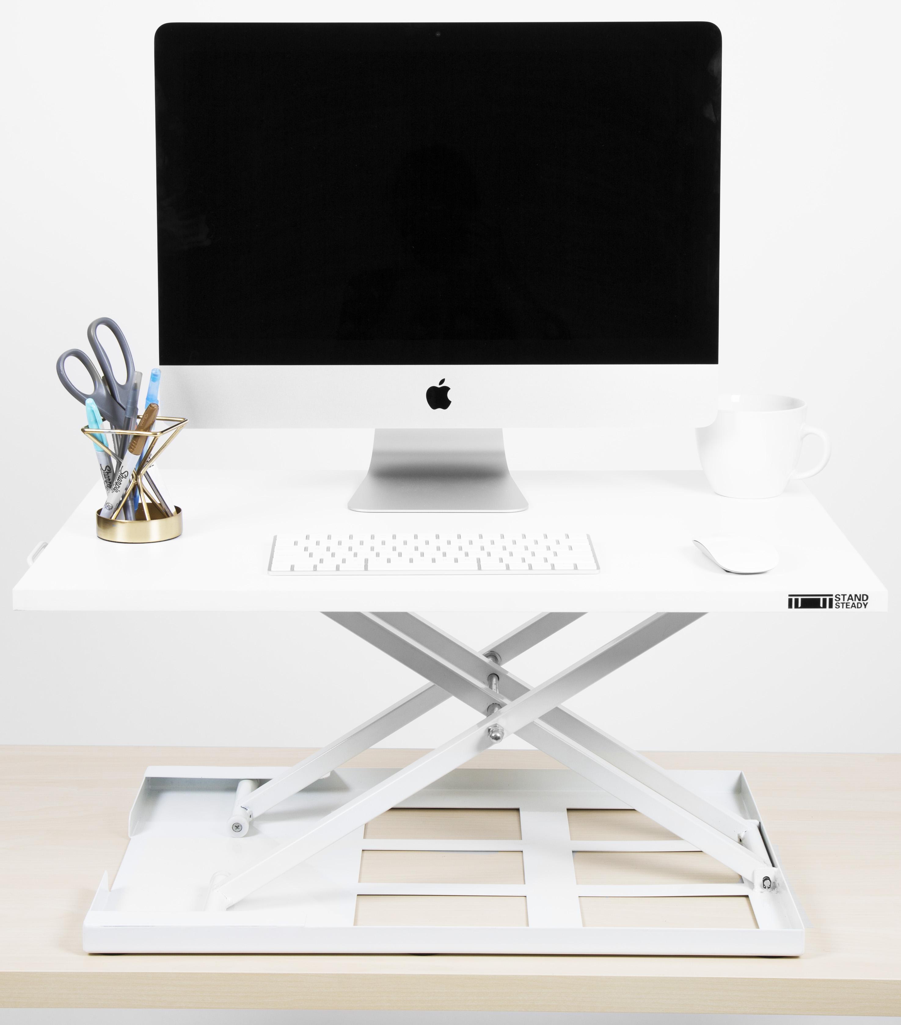 White Standing Desk Converter