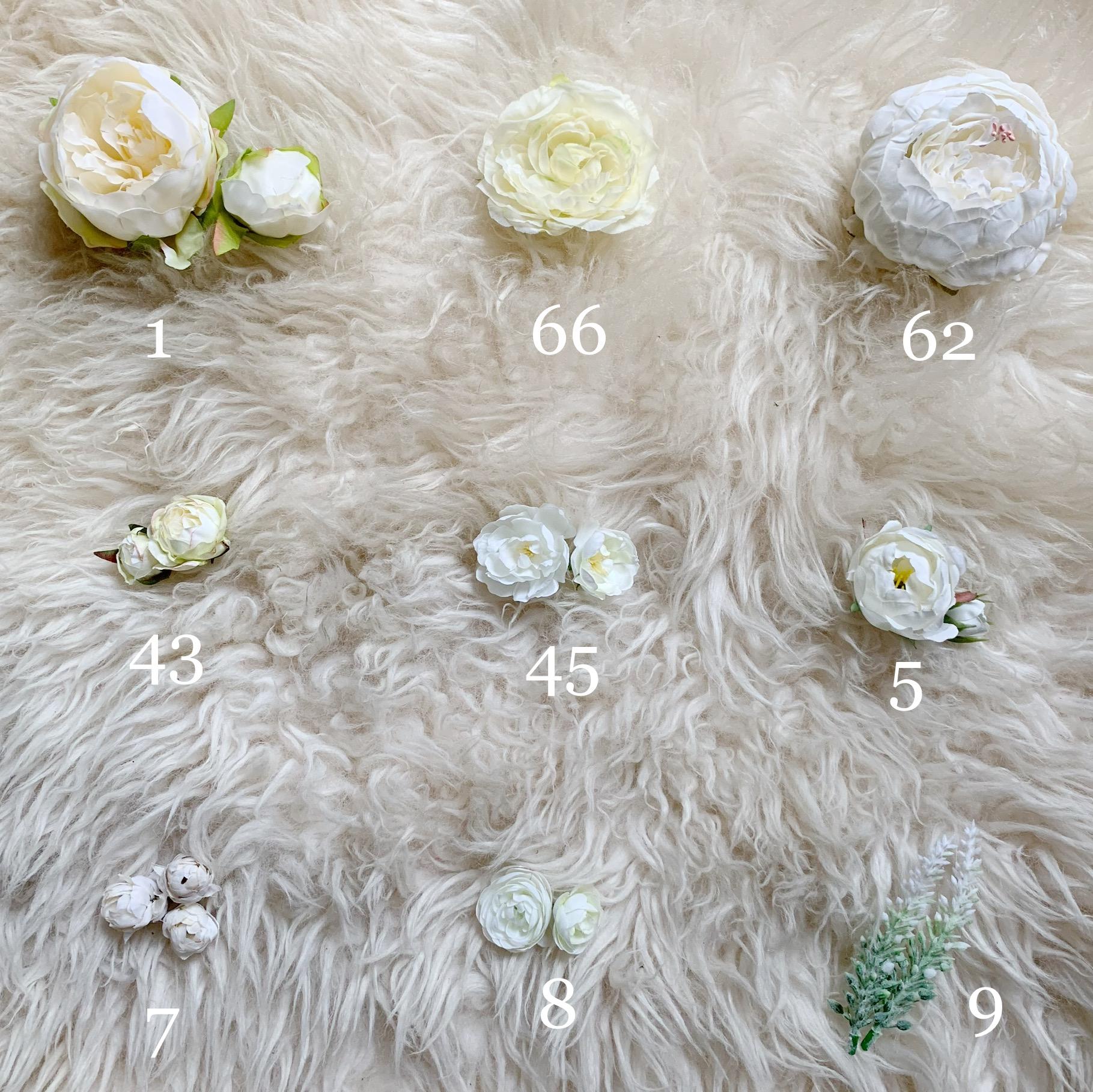 white flower options