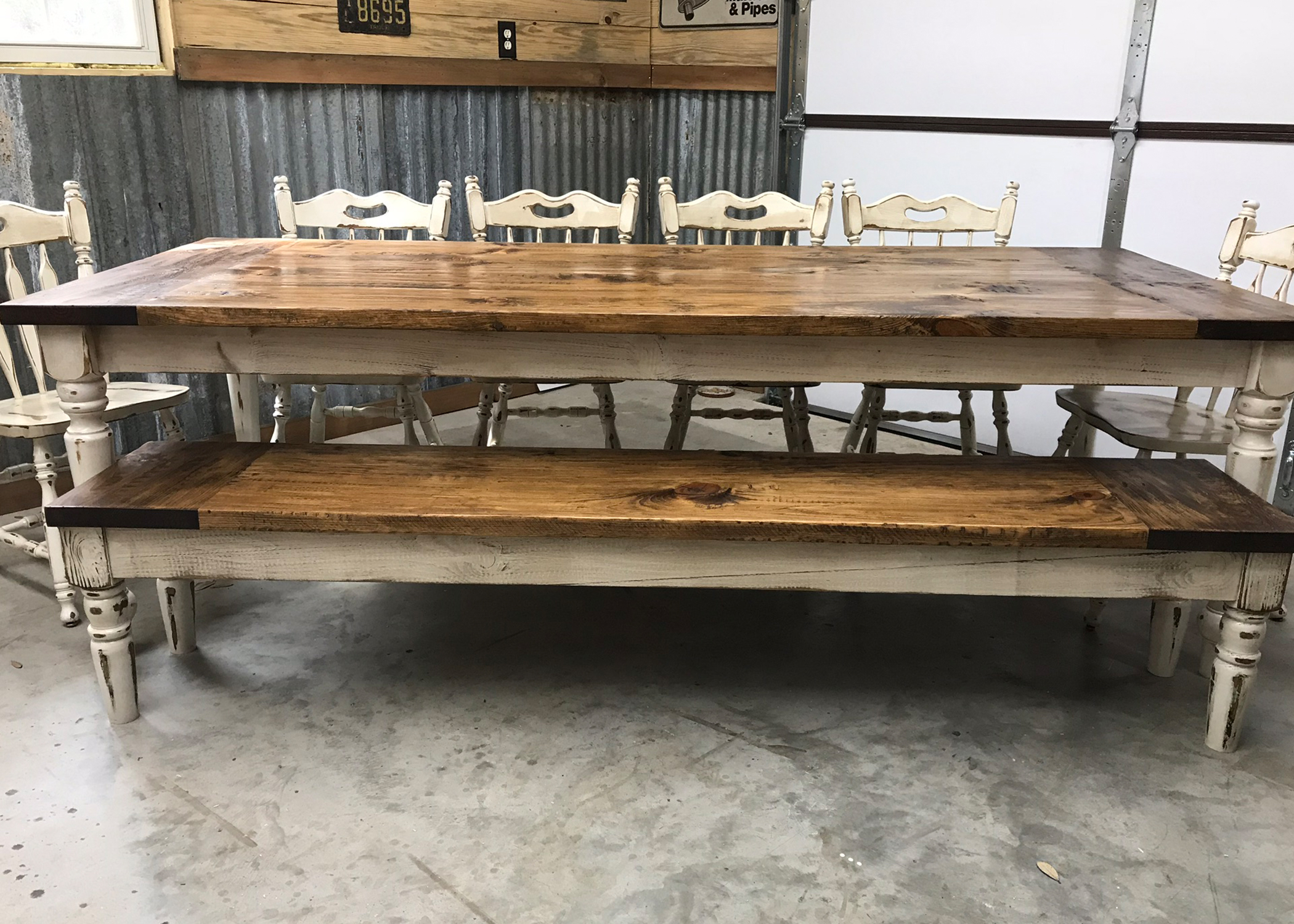 Genial Ten Person Classic Farmhouse Table