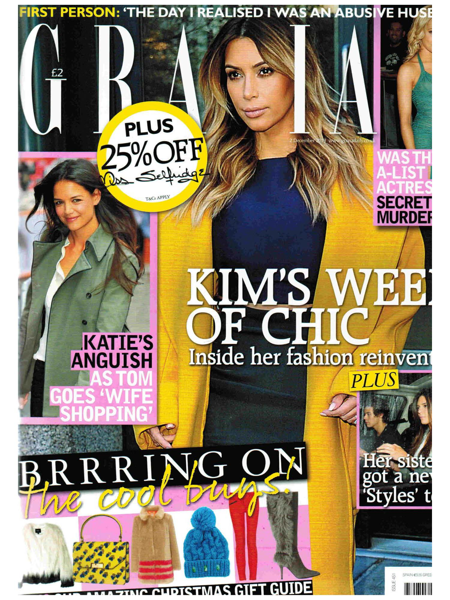dog, dogs, style, magazine, press, editorial, grazia, kim, kardashian