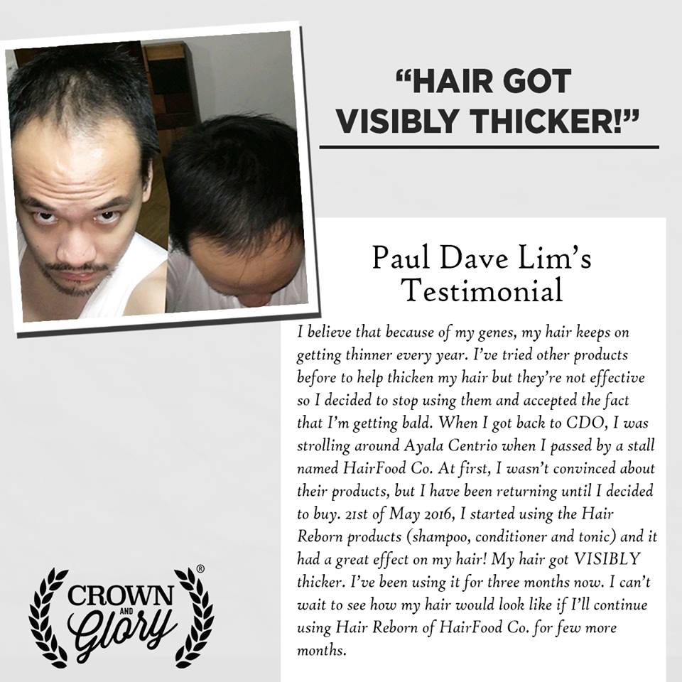 hair grower testimonial