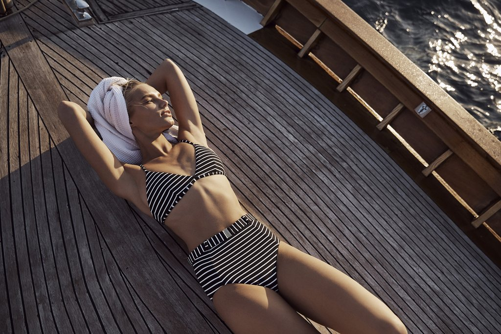 Amaio Fleur Stripe Bikini,