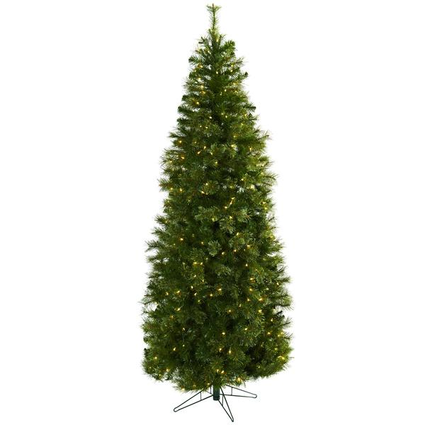 Cashmere Slim Christmas Tree W/Clear Lights