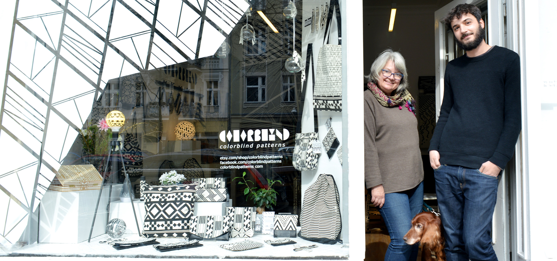 laden schaufenster design deko artkdeko kunst muster kalligraphie in berlin wedding schwarz weiß