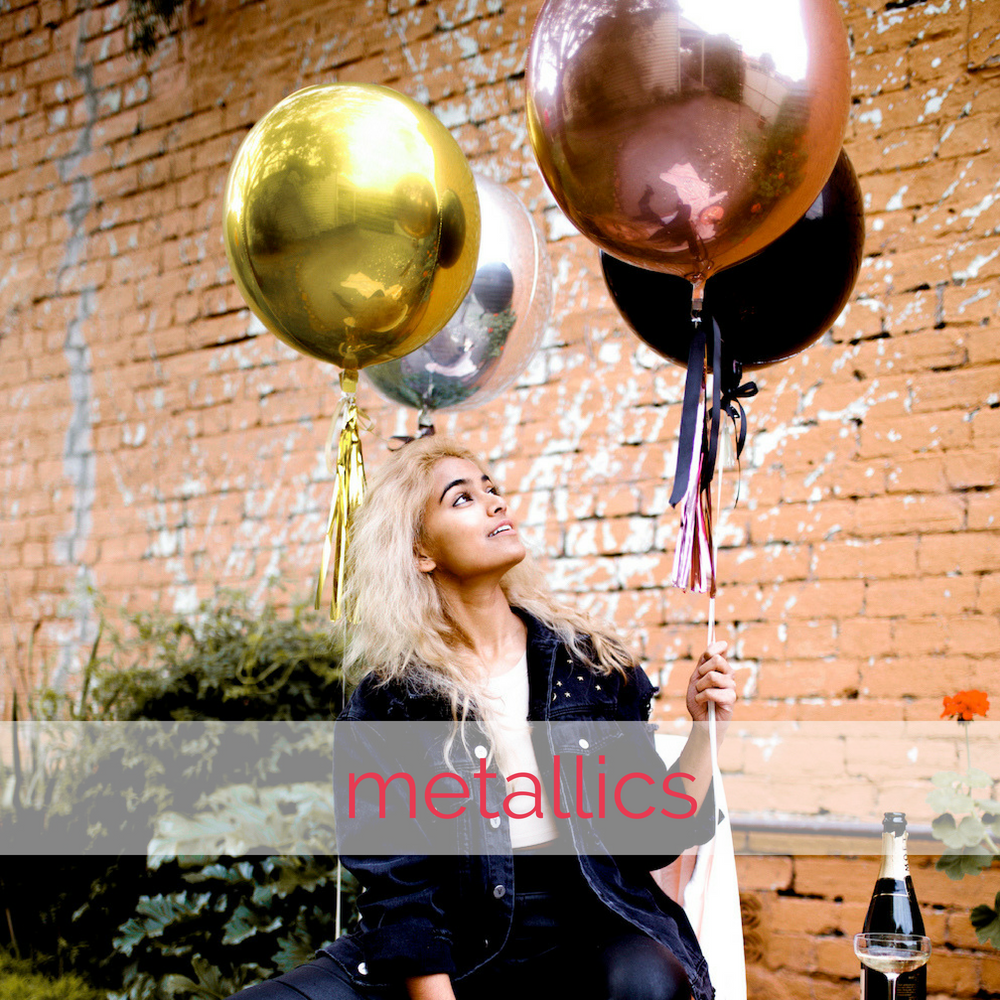 Metallic orb balloons by The Heyday Club