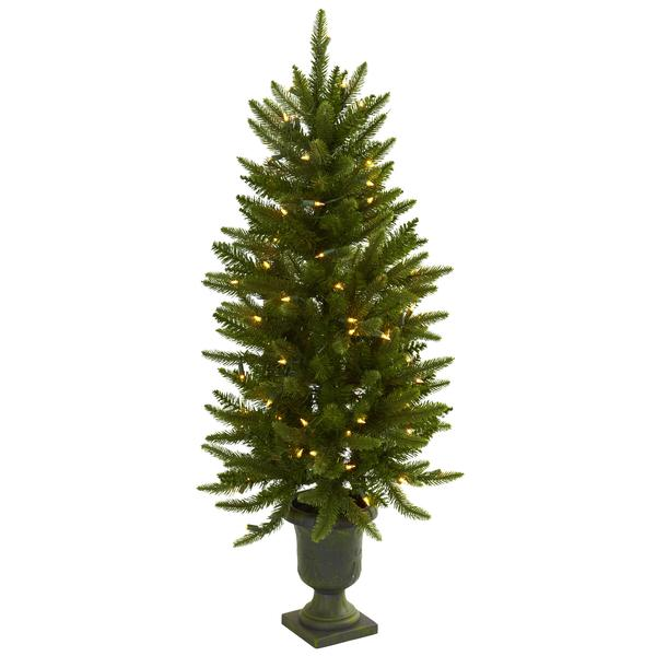 Christmas Tree W/Urn & Clear Lights