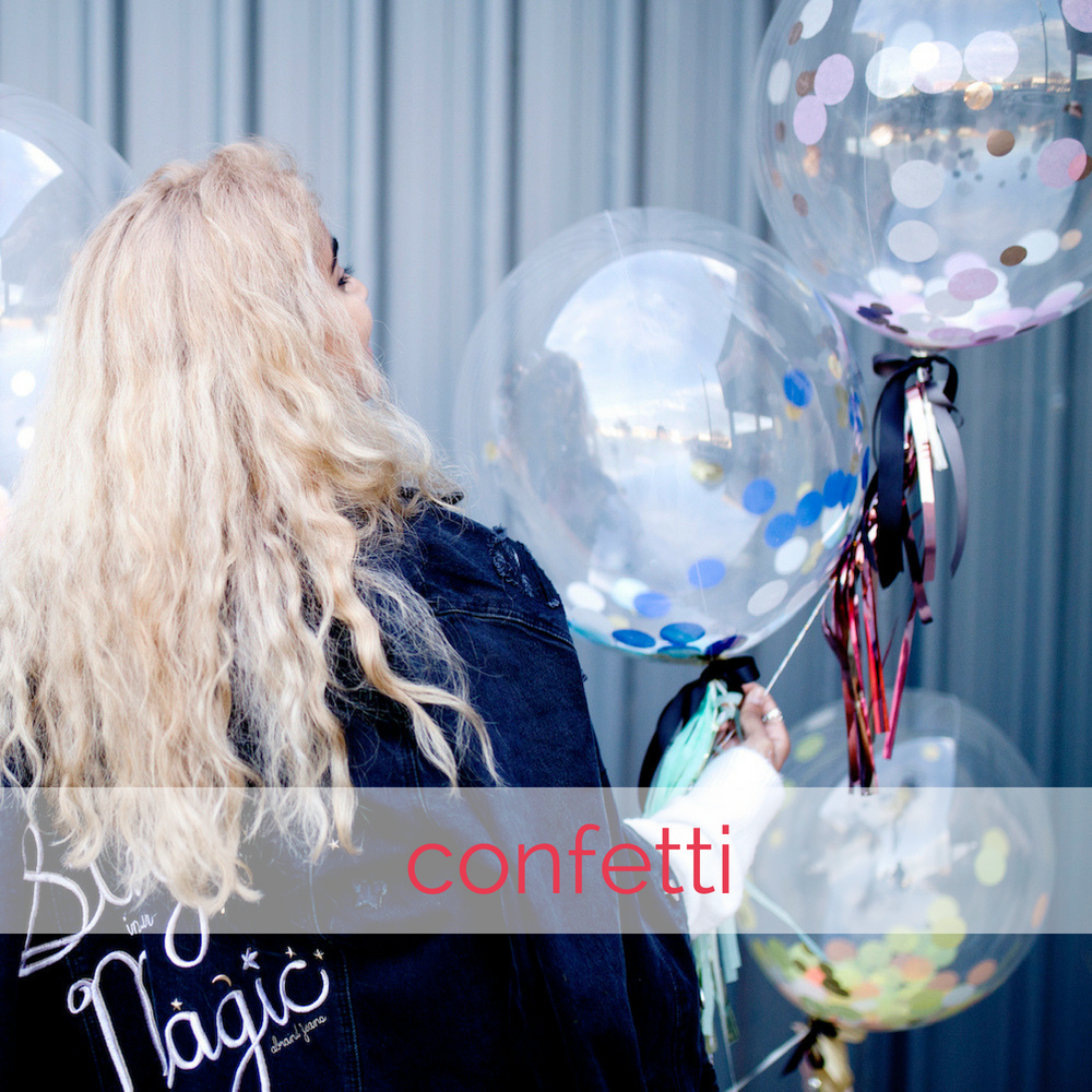 Confetti balloons by The Heyday Club