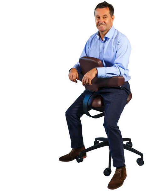 David France Chiropractor on Workhorse Saddle Chair