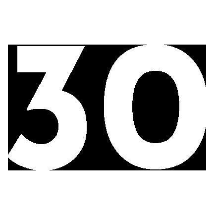 number 30 logo