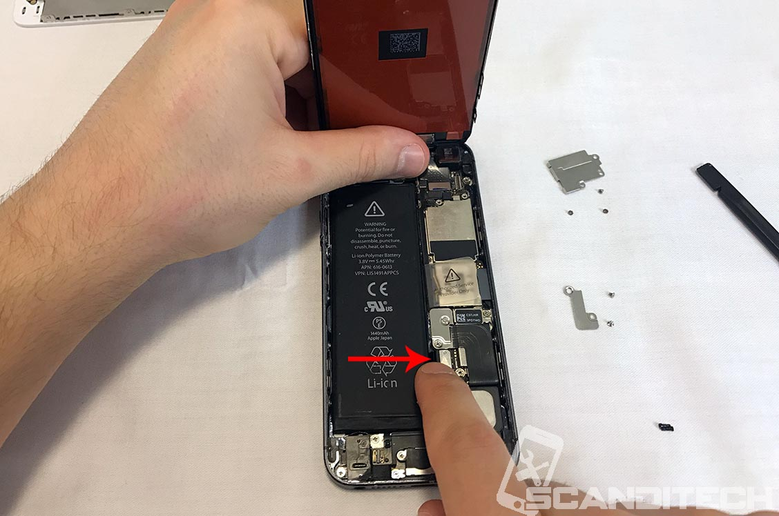 Connect the battery's connector.