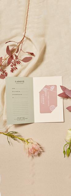 Carte cadeau pour offrir des soins sur-mesure - cosmétique