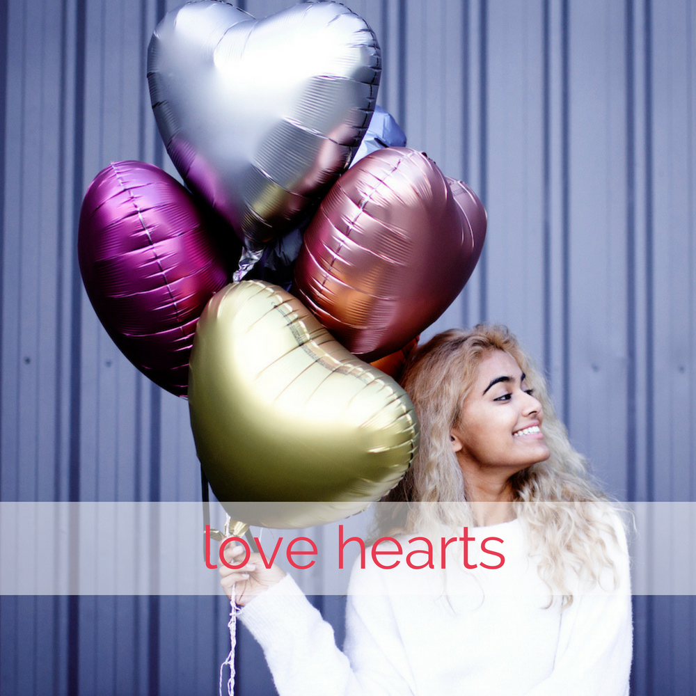 Love heart balloons | The Heyday Club
