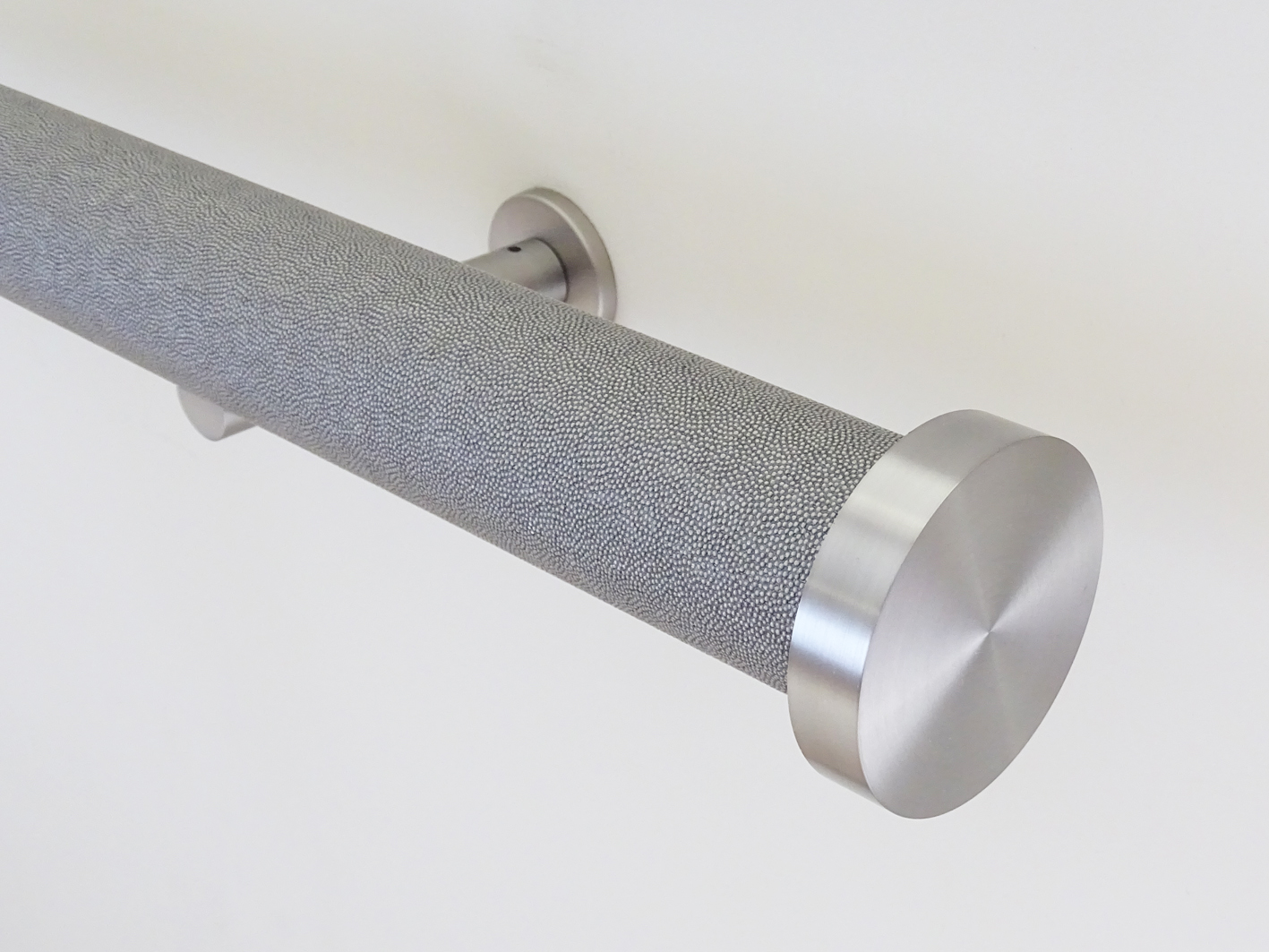50mm diameter wooden wrapped curtain poles with tracks