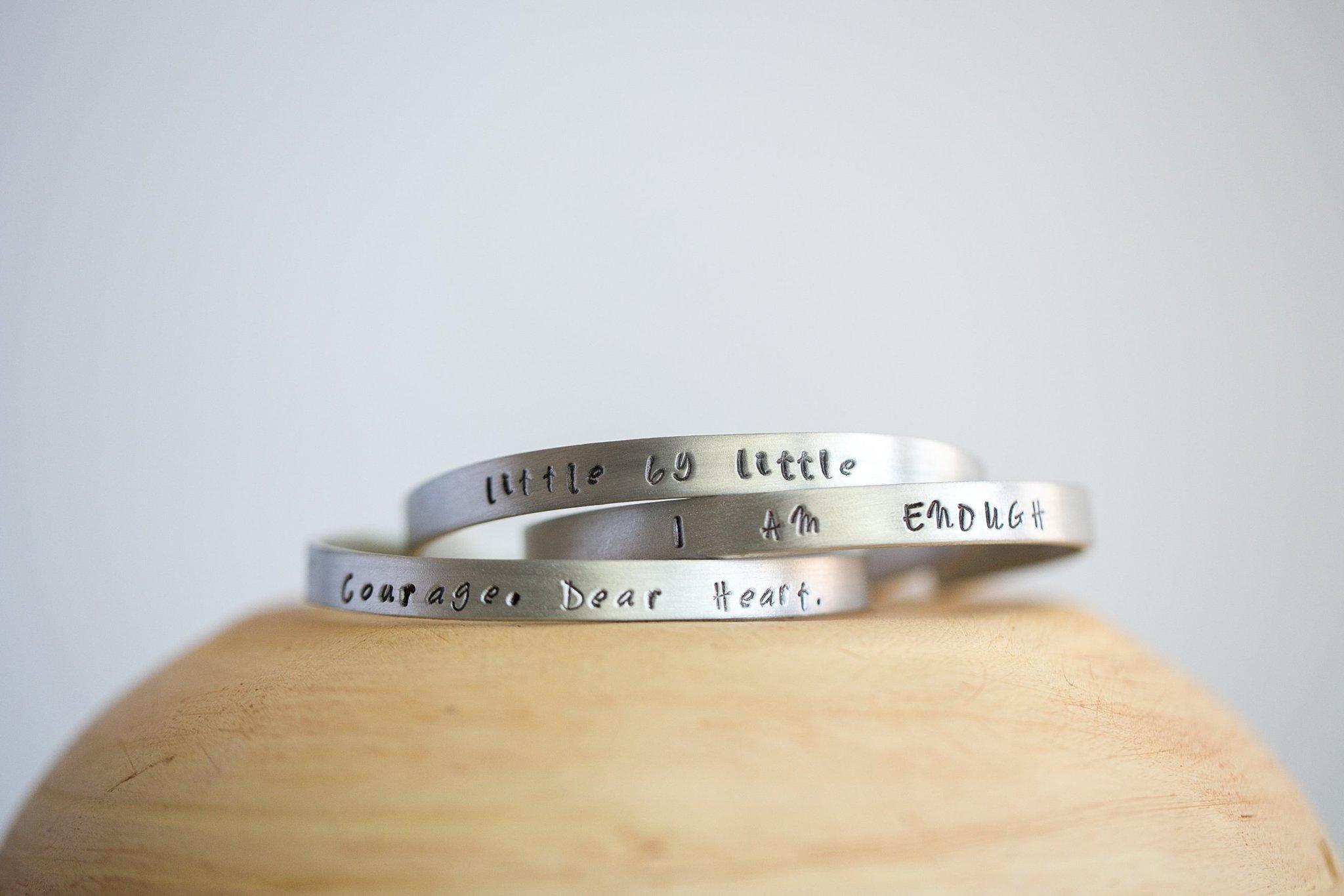 courage dear heart cuff bracelet