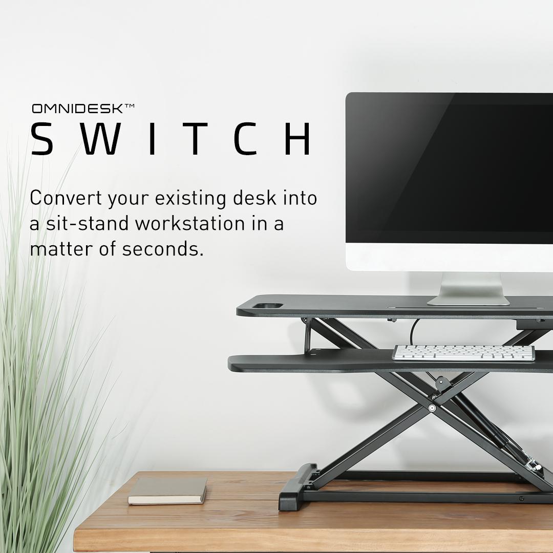 Omnidesk Switch - Ultimate Sit-stand Desk Converter