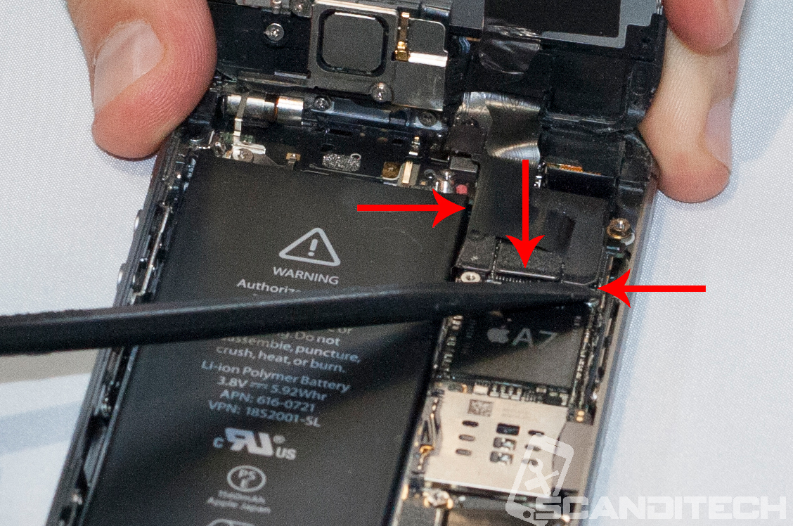 iPhone 5S/5C battery replacement guide - identifying the flex cables