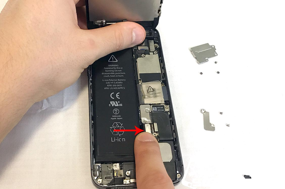 Finally, connect the battery's connector.