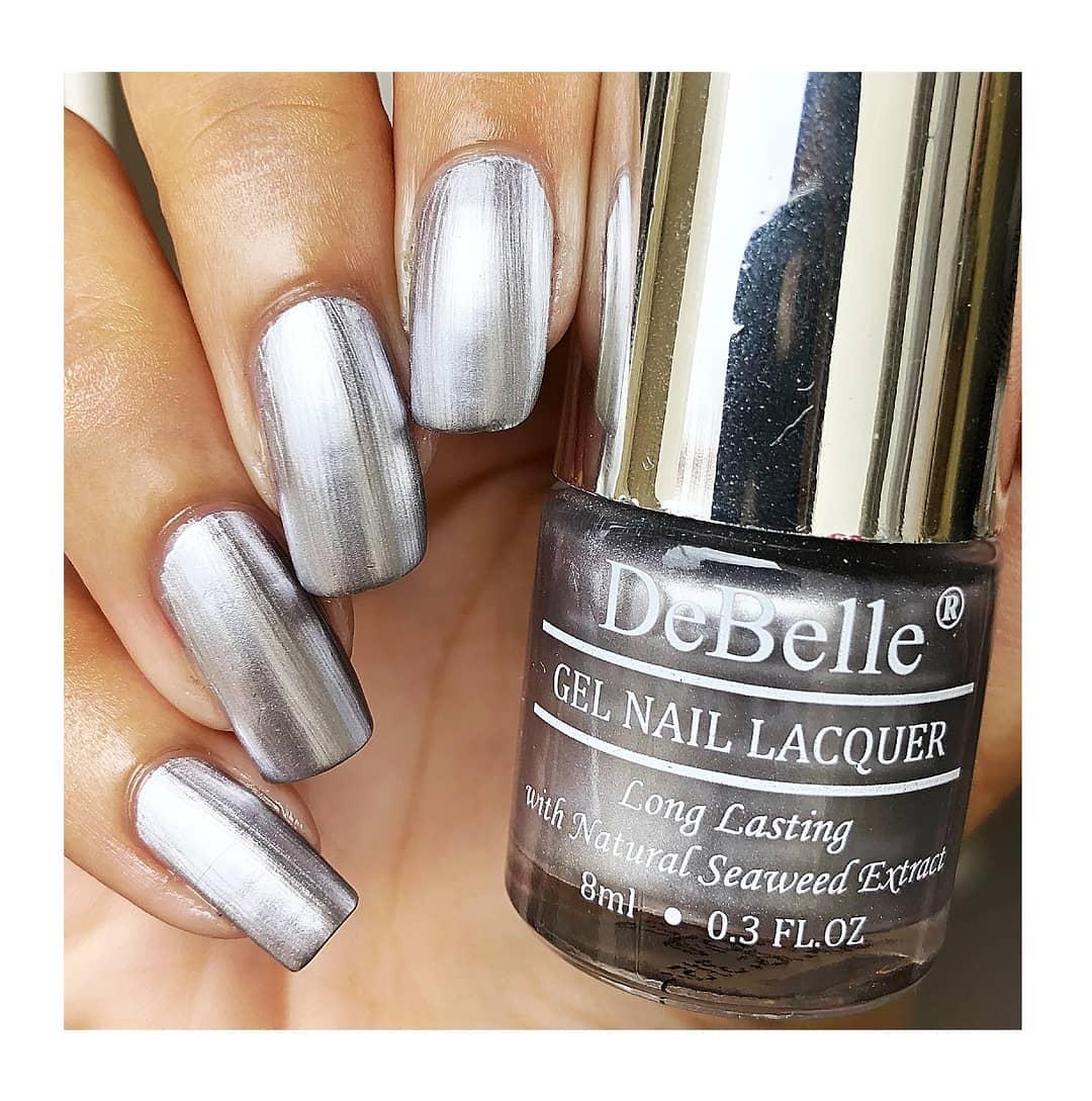 DeBelle Gel Nail Lacquer Chrome Silver (Silver Chrome Nail Polish)