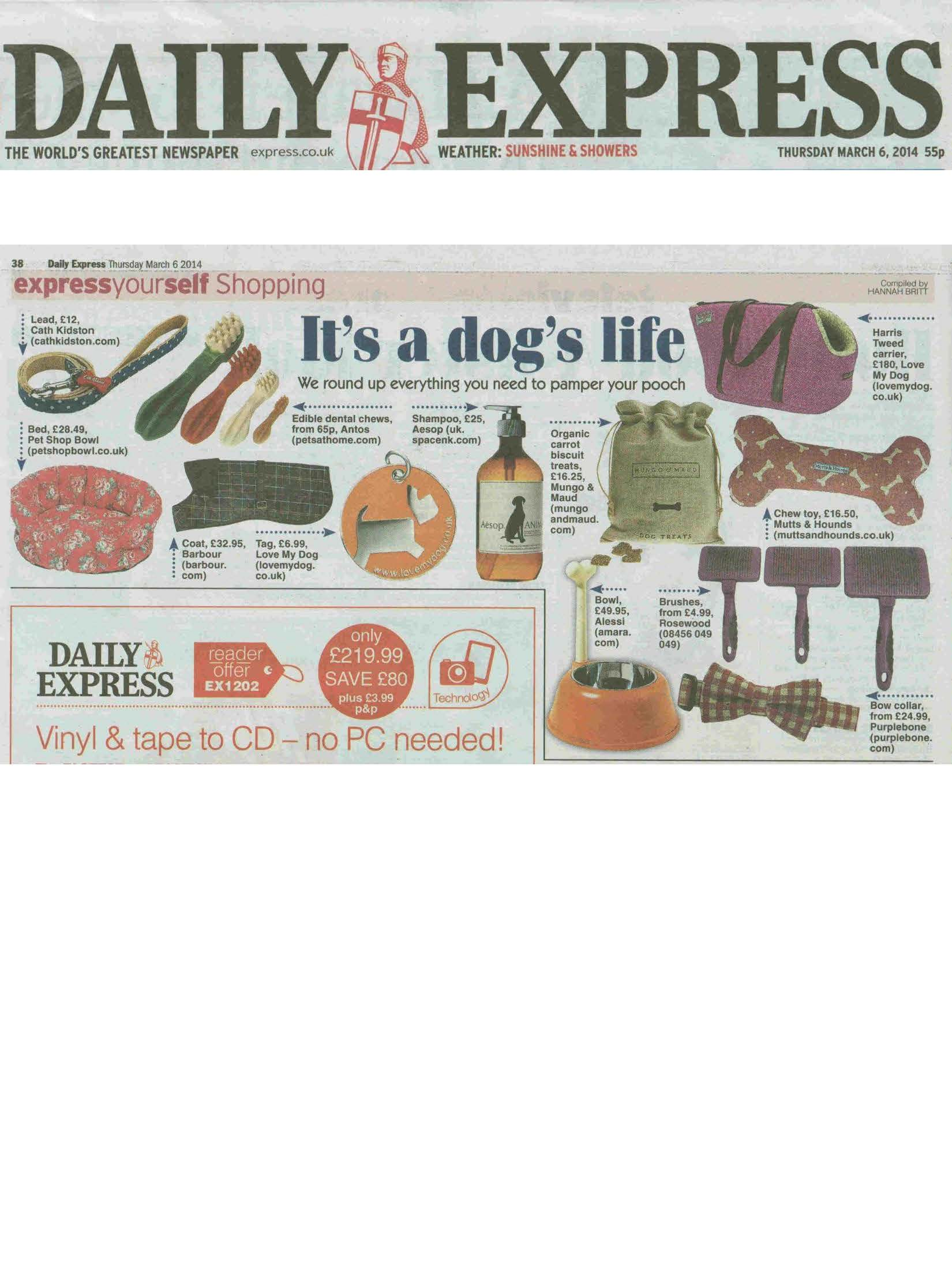 dog, dogs, style, magazine, press, editorial, daily express