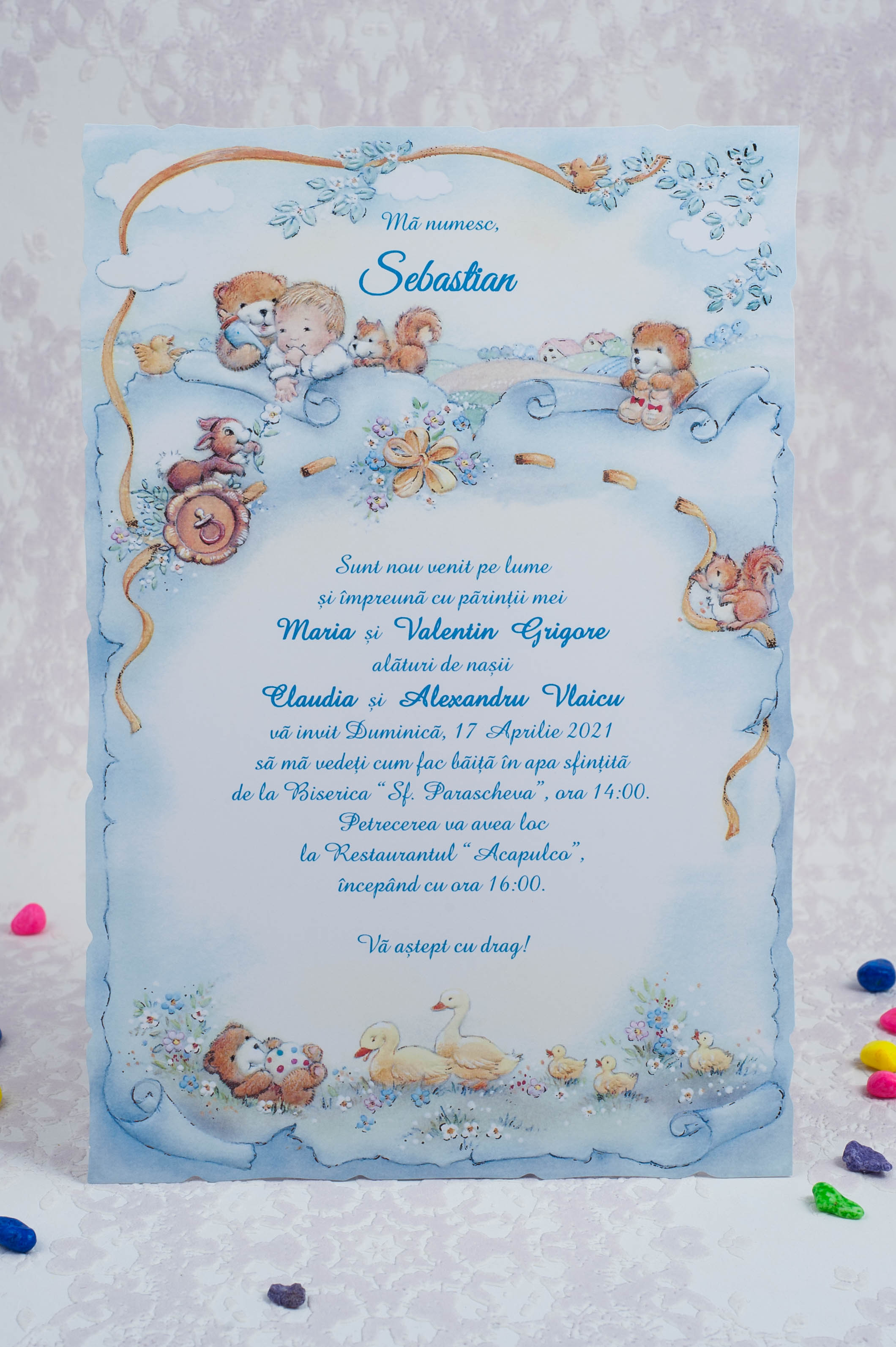 Invitatii botez cod 8025