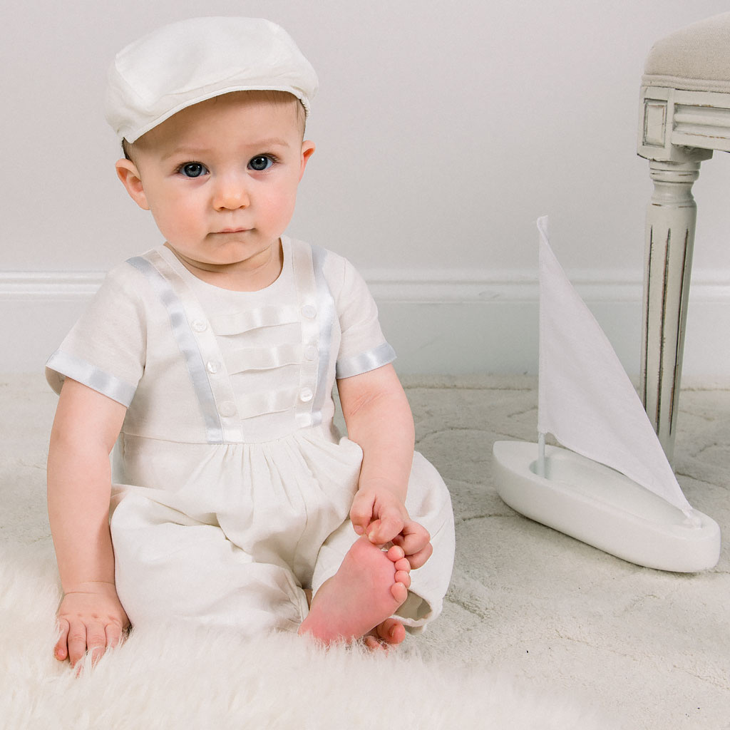 Owen Boys Christening Jumpsuit