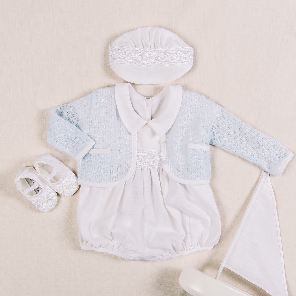 Henry Boys Christening Jumpsuit