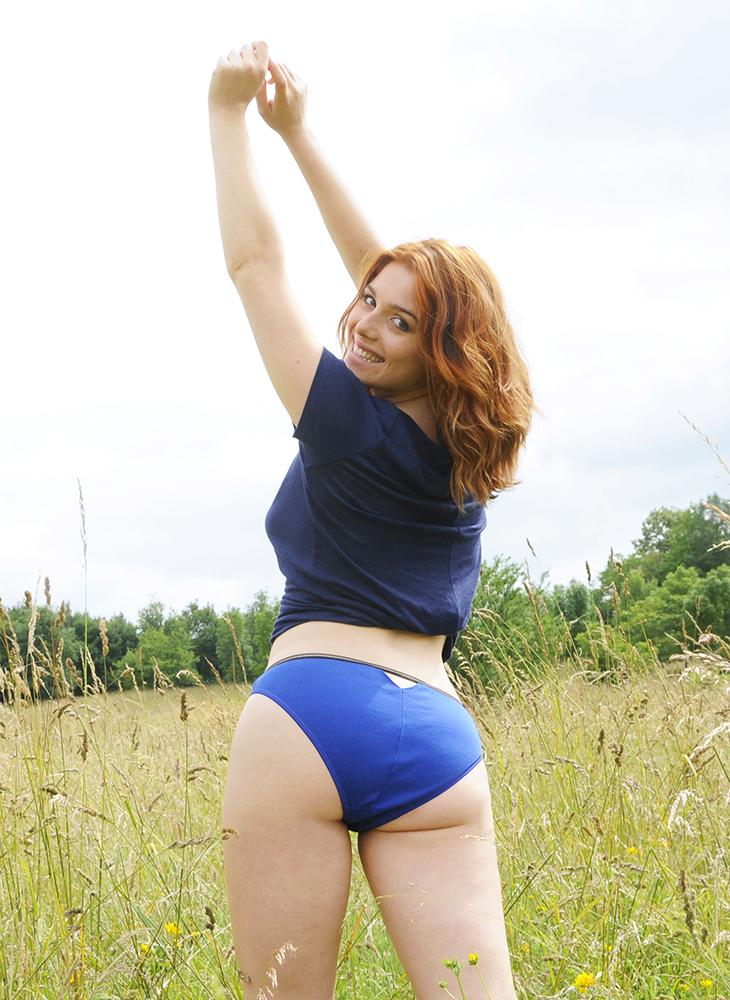 Culotte bleue en coton bio
