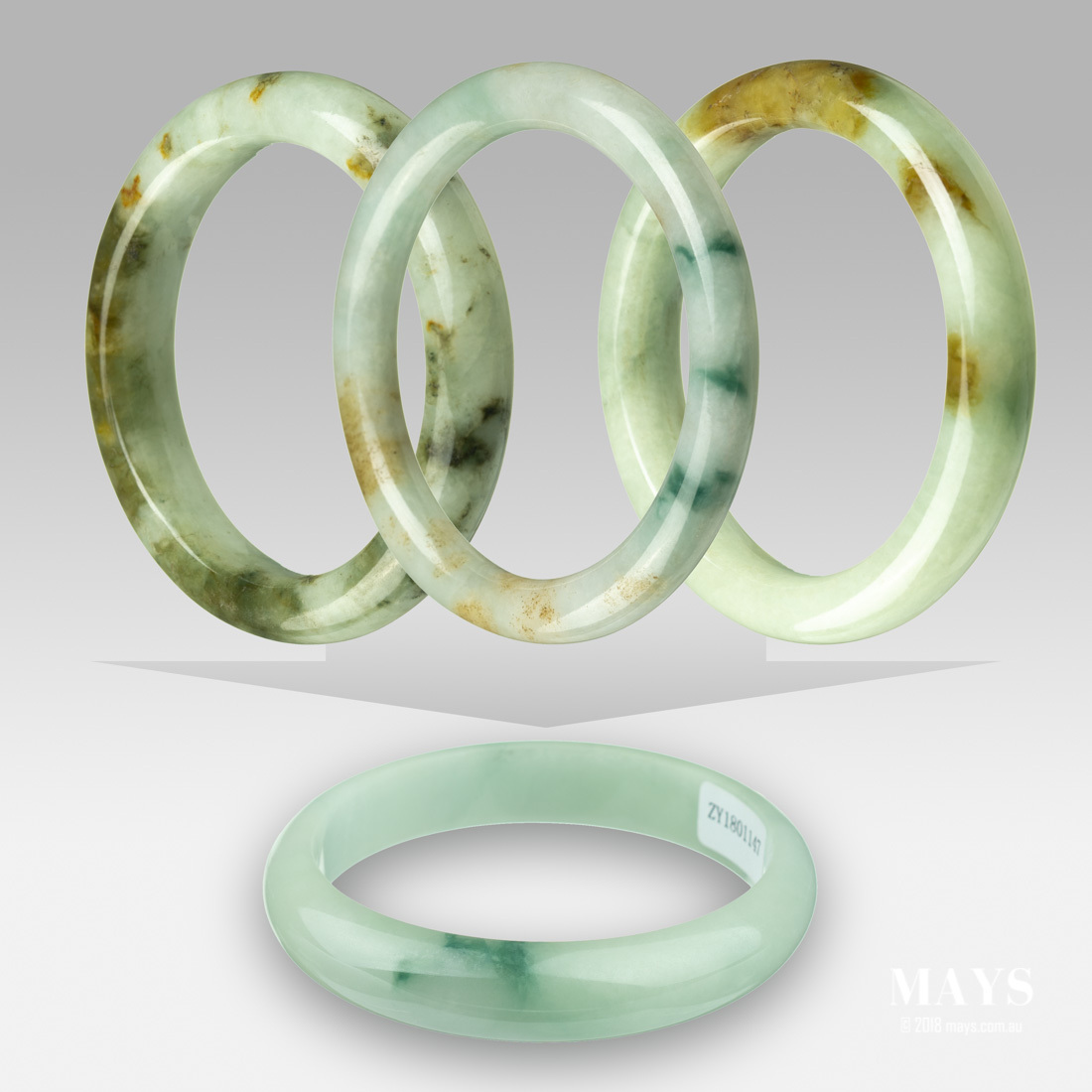 Materials used in the treatment of Jade bangle to turn them in to B Jade .