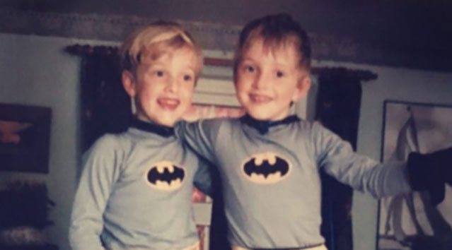 Josh and Sam as Batman