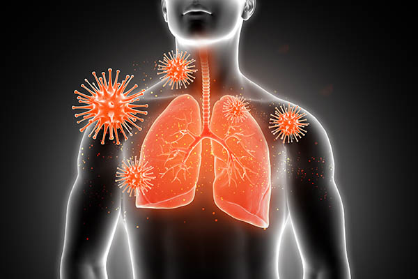 affected lungs
