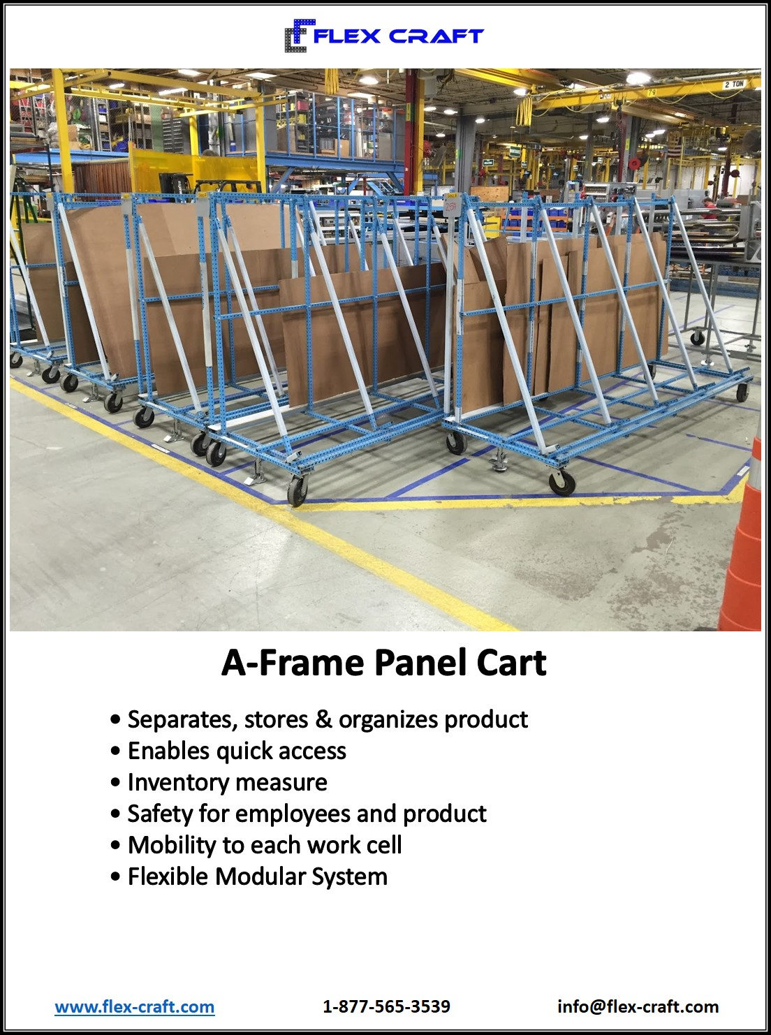 A Frame Panel Storage Carts