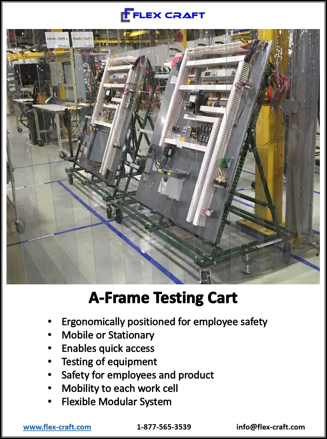 A Frame Wire Harness Testing Cart