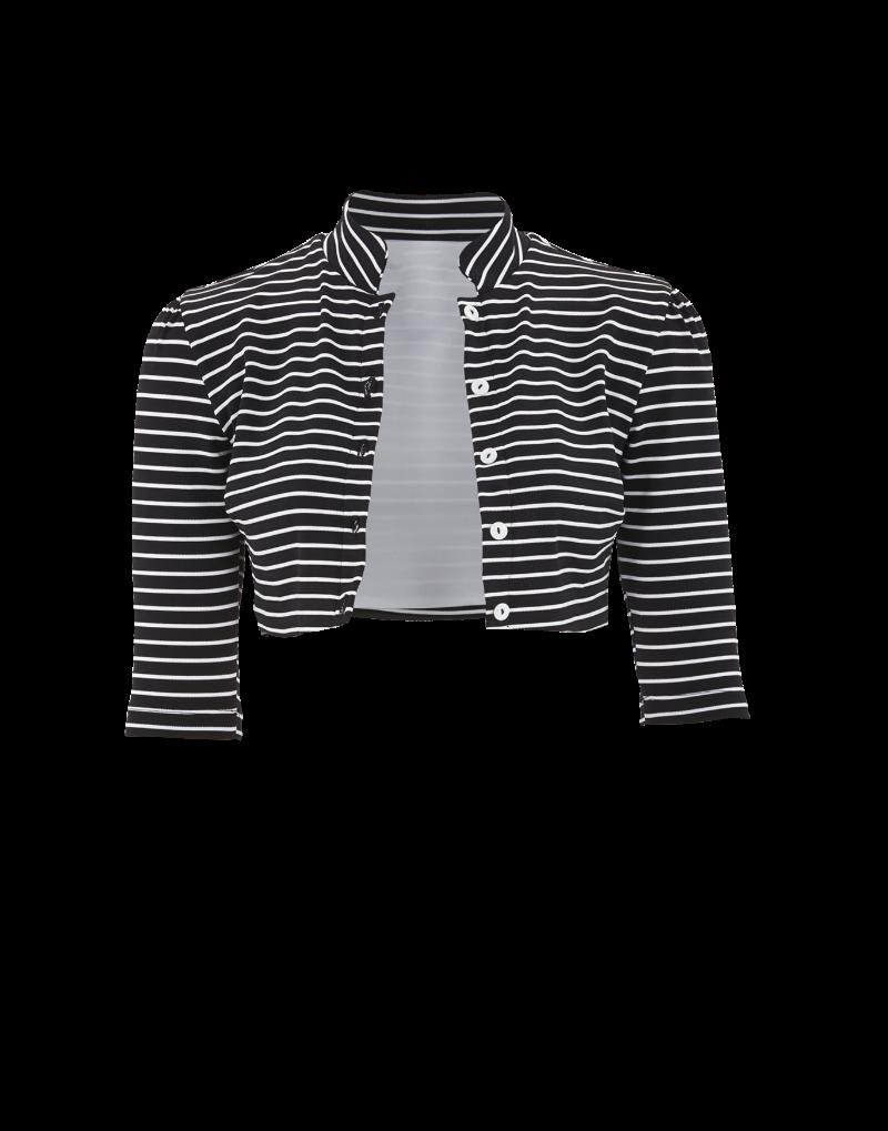 Amaio Fleur Stripe Cardigan in navy/white stripes