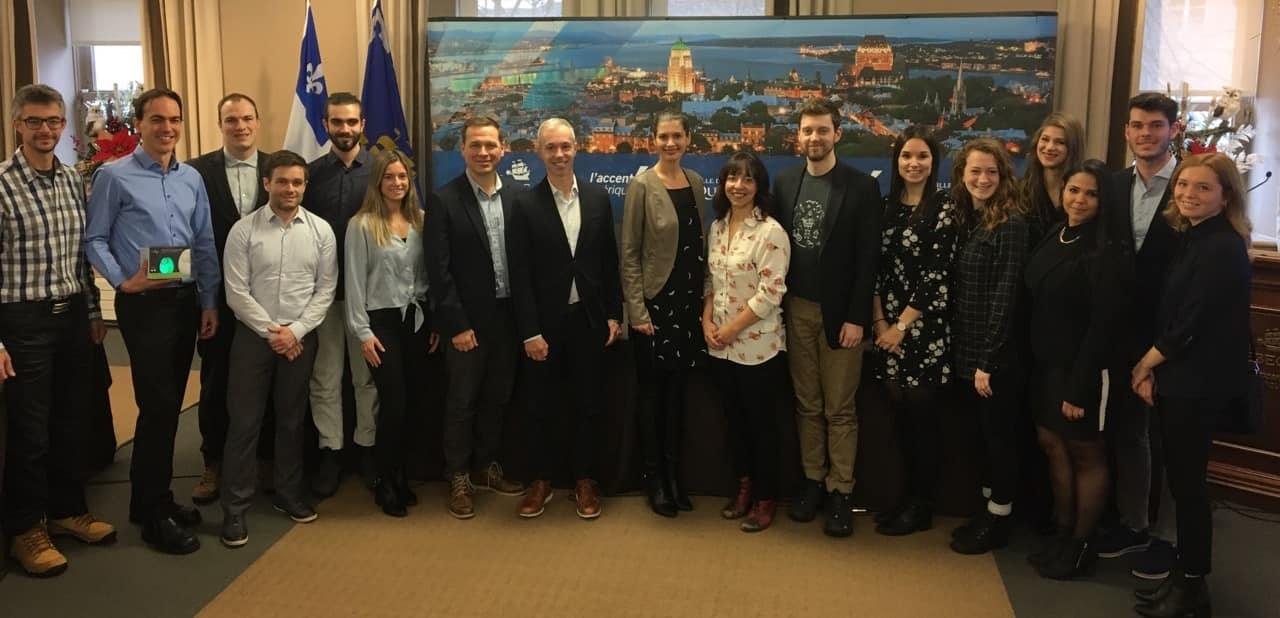 Représentants des 15 entreprises lauréates de l'appel à projets de la ville de Québec