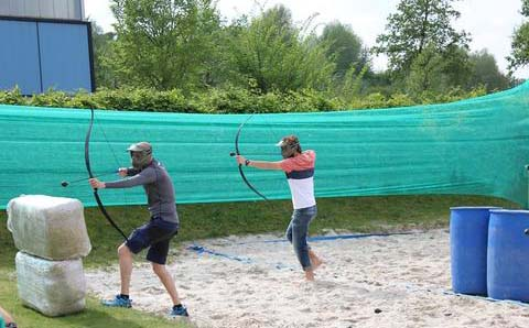 Archery tag als bedrijfsuitje in groningen