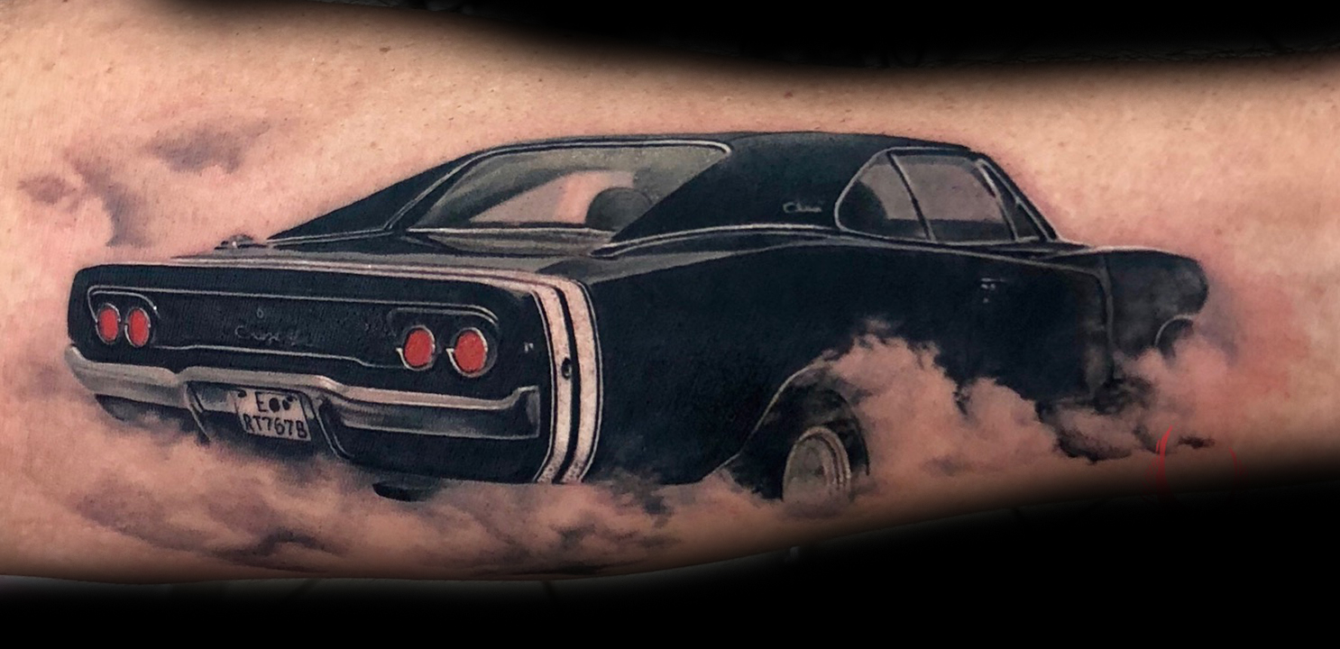 Muscle Car Tattoo Designs Www Topsimages Com