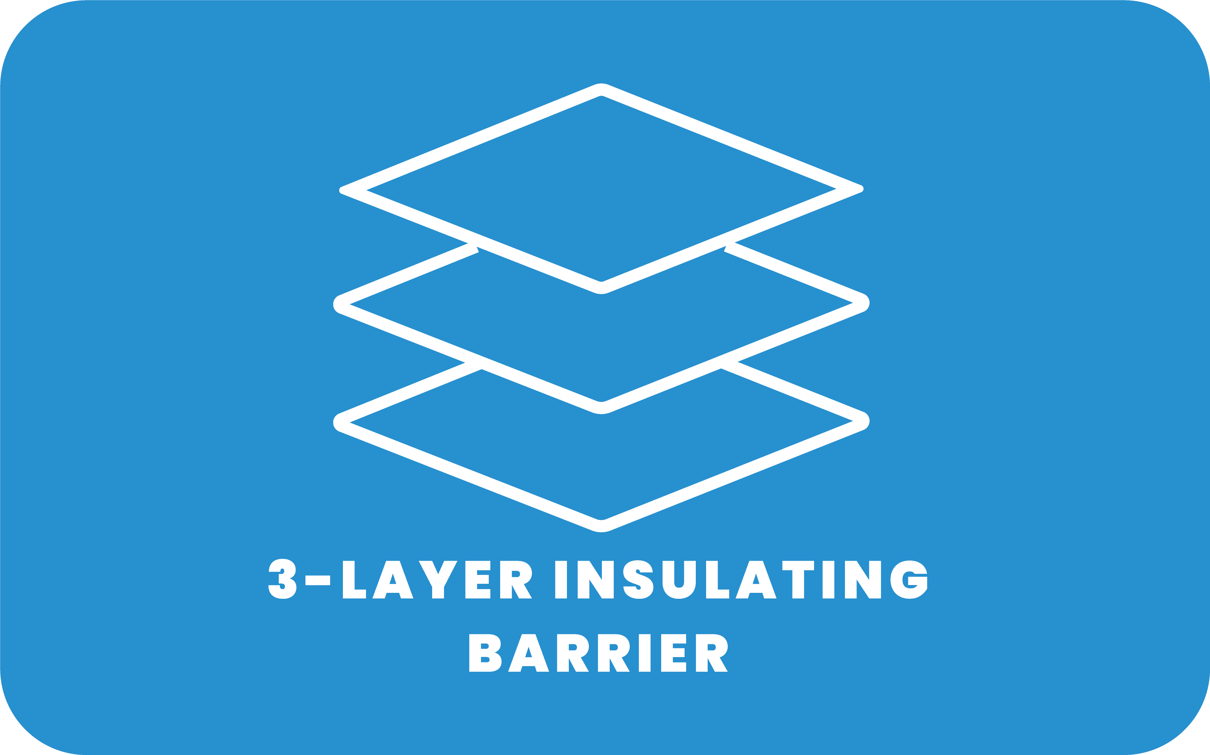 3-layer insulating barrier Icon