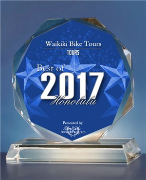 Waikiki Tours and Rentals 2017 Award