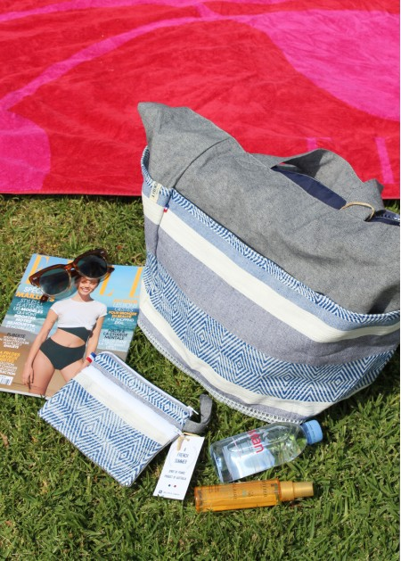 summer bag in blue made in australia