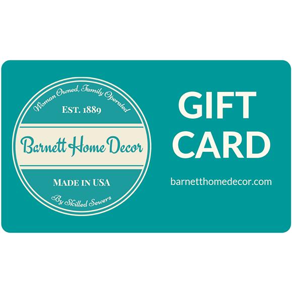 Gift Cards Instant Gifts Barnett Home Decor
