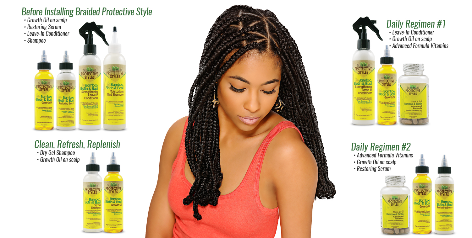 Protective Styles Regimen Guide for Braids Hair Care
