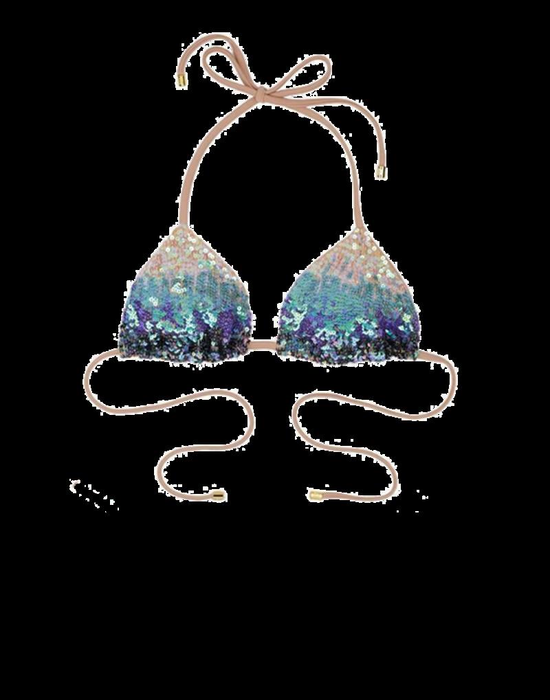 Beach Bunny Ariel bikini top in mermaid ombre