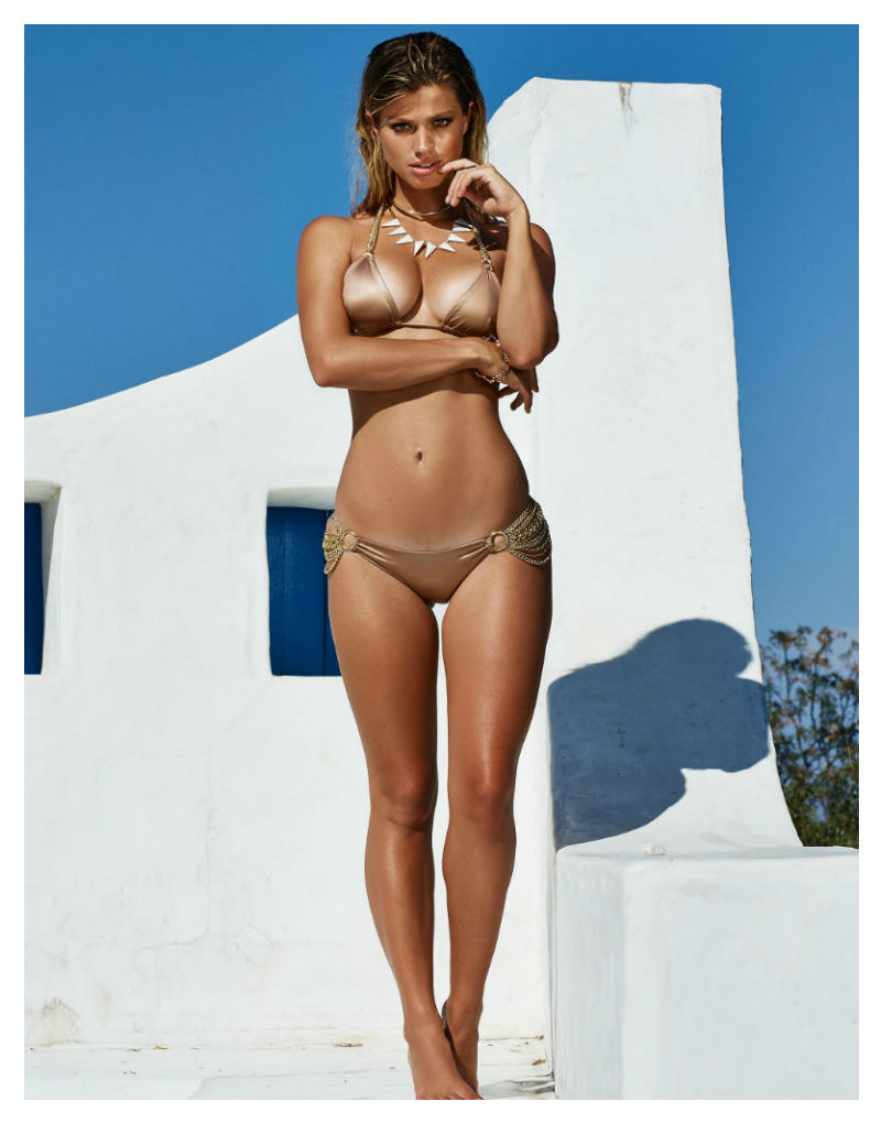 Beach Bunny Ball & Chain bikini in bronze