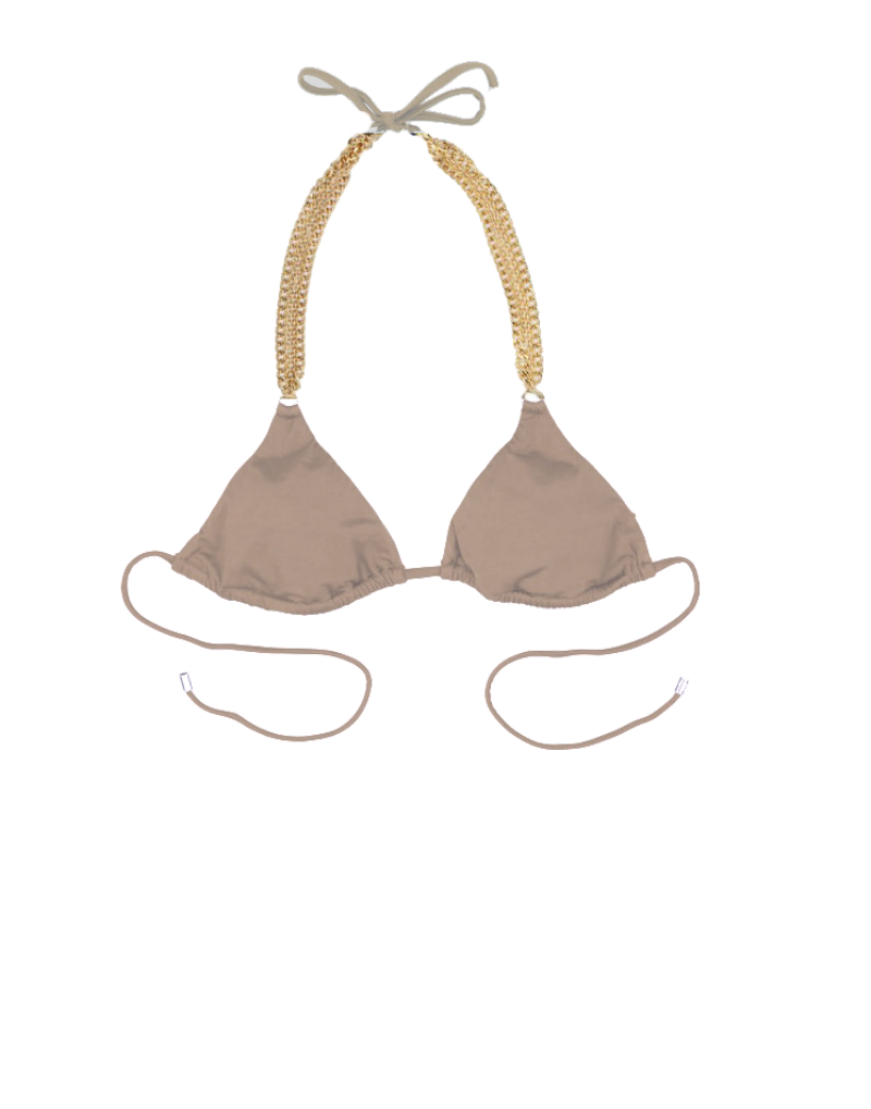 Beach Bunny Ball & Chain bikini top in bronze
