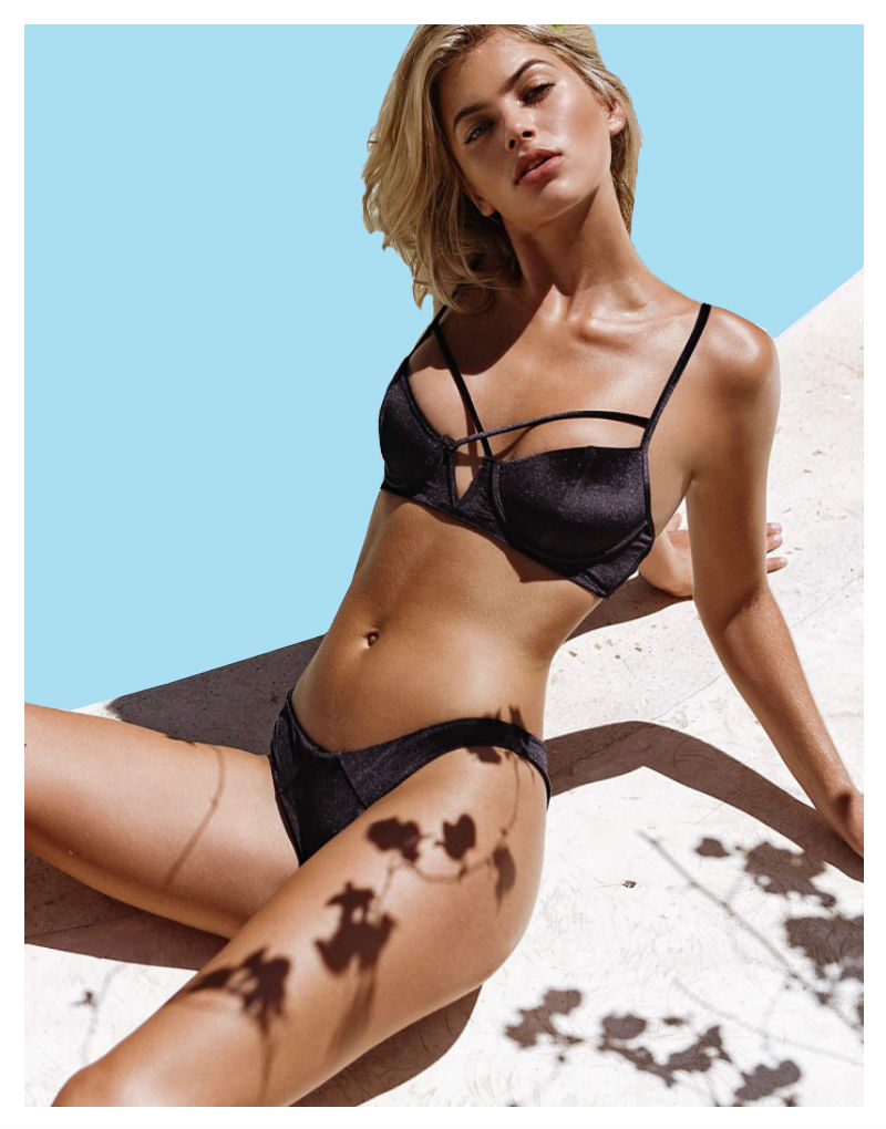 Beach Bunny Dylan - London Bikini in black velvet