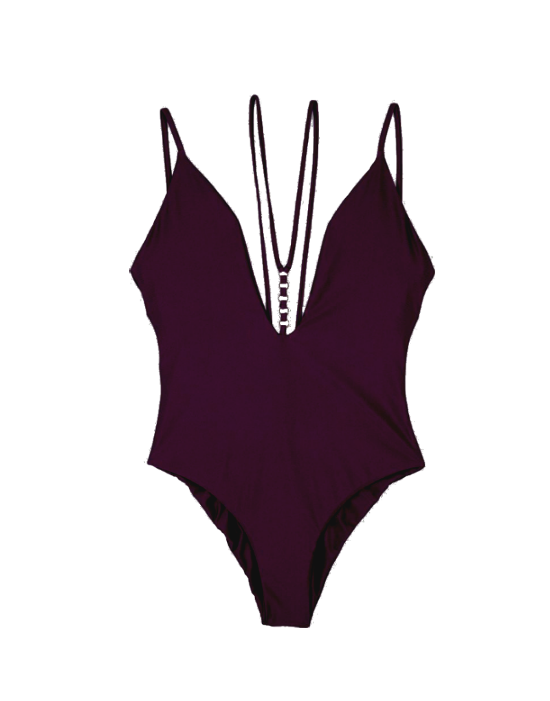 Beach Bunny Ireland One Piece in plum