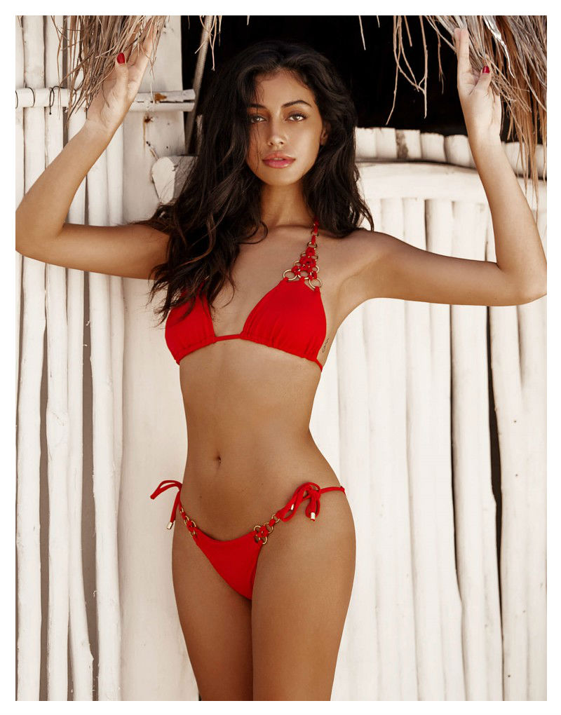 Beach Bunny Ireland String Bikini in red