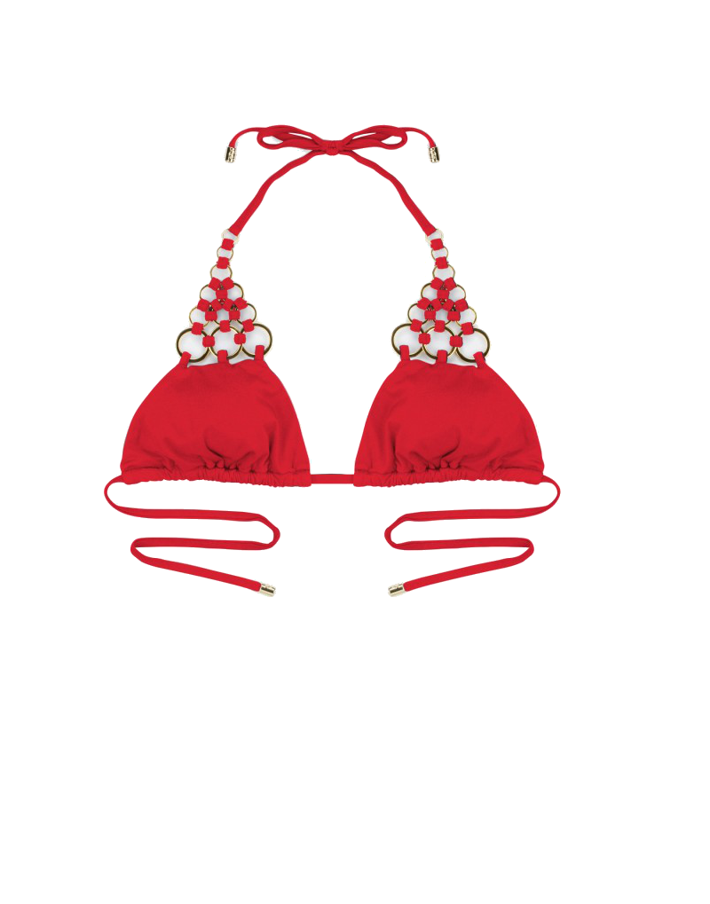 Beach Bunny Ireland bikini top in red